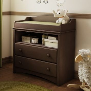 South Shore Angel Collection Changing Table - Espresso | www.hayneedle.com