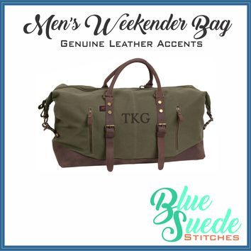 Weekender Bag for Men - Monogrammed