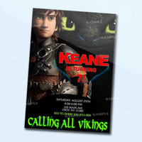 How To Train Your Dragon Movie personalized card as a digital file