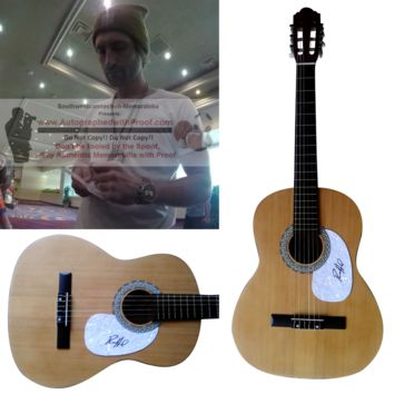 Ryan Hurd Autographed Full Size 39 Inch Country Music Acoustic Guitar, Proof Photo