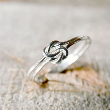 Double Love Knot Ring Sterling Silver