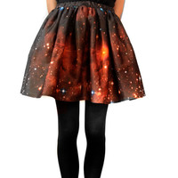 Crimson Galaxy Skirt Perfect for Valentines Day by shadowplaynyc