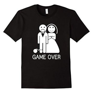 Game Over Funny Bachelor Party, Wedding Groomsman T Shirt