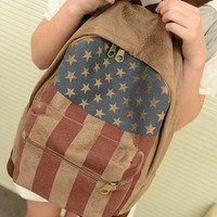 Union Jack Style Backpack Shoulder Bags