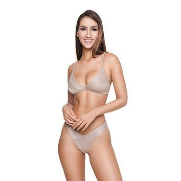 Latte Maria Triangle Top & Cheeky Bottom Set