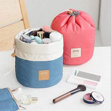 2 Colors organizer bag Travel bulk Drawstring Cosmetic multi functional storage bag in bag Handbag Storage box New C0