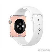 The Rose Gold Brushed Surface Full-Body Skin Set for the Apple Watch