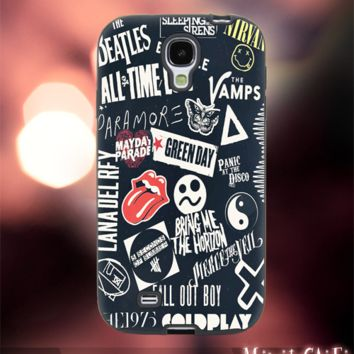 MC2601Z,1,coldplay,5sos,all time,low,music -Accessories case cellphone-Design for Samsung Galaxy S5 - Black case - Material Soft Rubber
