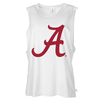 Official NCAA Alabama Roll Tide - State Pride 03AL-1 Women's Muscle Tee Shirt