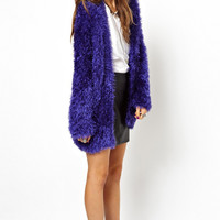 Furry Long-Sleeve Coat