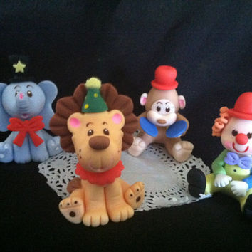 Circus Cake Topper, Circus Animals Circus Party Decoarations, Circus Birthday Cake, Circus Decorations, Circus Party, Circus Baby Shower