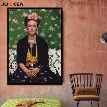 Frida Kahlo Photography Collection Art Canvas Print Painting Poster, Full Size 78x109cm Wall Picture For Living Room, Home Decor