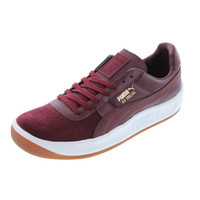Puma Mens GV Special Exotic Leather Perforated Tennis Shoes