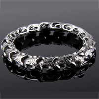 Dragon Bone Stainless Steel Men's Fashion Bracelet