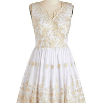 Champagne Toast To You Dress | Mod Retro Vintage Dresses | ModCloth.com