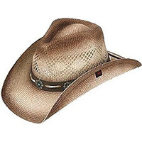Peter Grimm Ltd Women's Shaggy Straw Cowgirl Hat Brown One Size