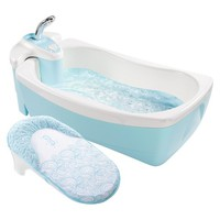 Summer Infant Lil' Luxuries® Bath Tub with Whirlpool, Bubbling Spa and Shower - Blue