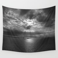 Cloudscape in black and white  Wall Tapestry by ARTbyJWP