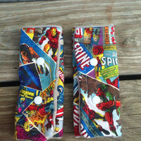 Superhero drool pads, ssc accessories, tula accessories, marvel comics, tula drool pads, suck pads, drool pads
