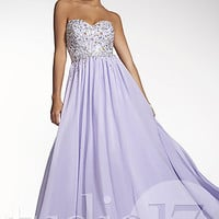 Strapless Beaded Ball Gown by Studio 17