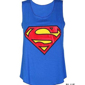 Batman Dark Knight gift Christmas 2018 Summer Fashion Women O-Neck T-Shirts Superman Batman Sleeveless Tops Size:S-XL For Choose Free Shipping 1PCS AT_71_6