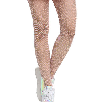 Blackheart Pastel Pink Medium Fishnet Tights