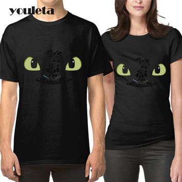 How to Train Your Dragons Toothless Lovers Clothes The Couple Women  Men New Fashion Summer Short Sleeve T Shirt For Couples
