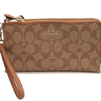 DCCKIN2 Coach Signature Double Zip Wallet