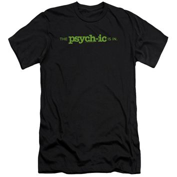 Psych - The Psychic Is In Premium Canvas Adult Slim Fit 30/1 Shirt Officially Licensed T-Shirt