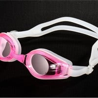 Plastic Anti-Fog Swimming Goggles (Pink)