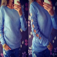 Womens Stunning Sleeve Stylish Knit Sweater