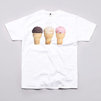 Flatspot - Ice Cream 3 Cones T Shirt White