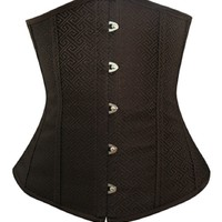 BJ1230 Corsets Women's Greek Motif Underbust Boned Fashion Lace Corset Plus Bag