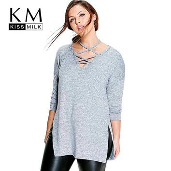Fashion Women Clothing Casual Solid Halter Tied Tops Long Sleeve Blouse Shirt