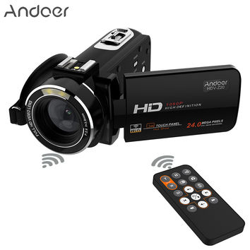 """Andoer HDV-Z20 WiFi Portable Camcorder 24MP 16x 1080P Full HD Digital Video Camera 3.0"""" Rotatable LCD Touchscreen Remote Control"""