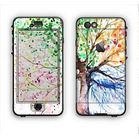 The WaterColor Vivid Tree Apple iPhone 6 Plus LifeProof Nuud Case Skin Set