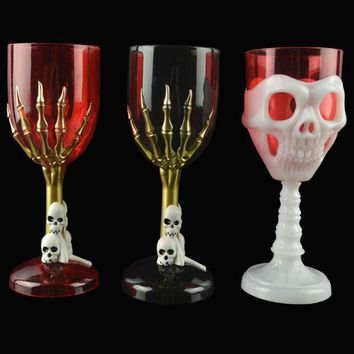 CREYET7 Halloween Cup LED Colorful Ghost Claws Skull Face Champagne Shot Cup Drinking Ware Home Bar Horror Decor For Halloween Party #3