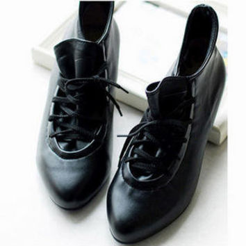 YESSTYLE: Smoothie- Lace-Up Shoe Boots - Free International Shipping on orders over $150