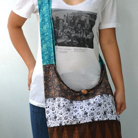 All Mixed Up - Mix N Match Cotton Cross body Shoulder Hippie Boho Hobo Messenger Bag EF229