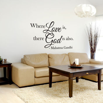 Vinyl Wall Decal Sticker Gandhi Love Quote #OS_DC508