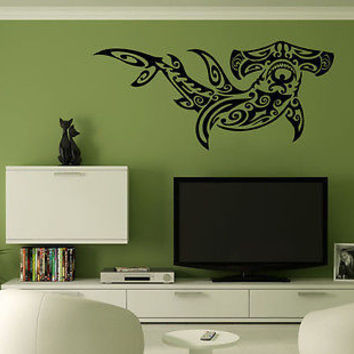 Wall Mural Vinyl Decal Sticker Decor Art Tattoo Tribal Hammer Shark AL167