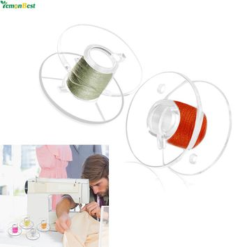 25Pcs /Set Transparent Plastic Sewing Machine Bobbins with Storage Case for Brother Janome Singer