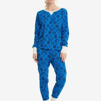 Licensed cool Supernatural Symbols Blue Thermal Long Sleeve Shirt Legging Pajamas JRS S-XL NWT