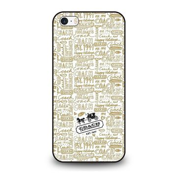 COACH NEW YORK COLLAGE 5SOS iPhone SE Case Cover
