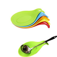 1Piece Silicone Spoon Rest Heat Resistant Kitchen Utensil Spatula Holder Cooking Tool