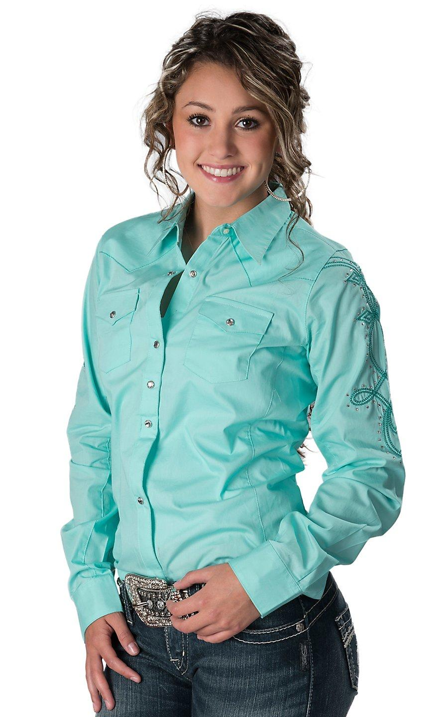 801e8a43 Wrangler® Women's Solid Turquoise with from Cavender's