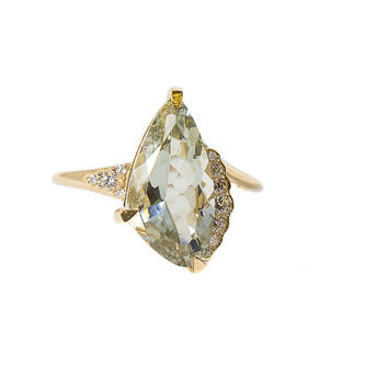 Fancy Green Amethyst Ring