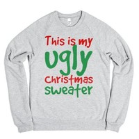 Ugly Christmas Sweater-Unisex Heather Grey Sweatshirt