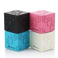 Magic Square Bluetooth Speaker LED Light Wireless Portable Subwoofer Speakers TF