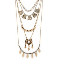 Tribal Beat Layered Necklace